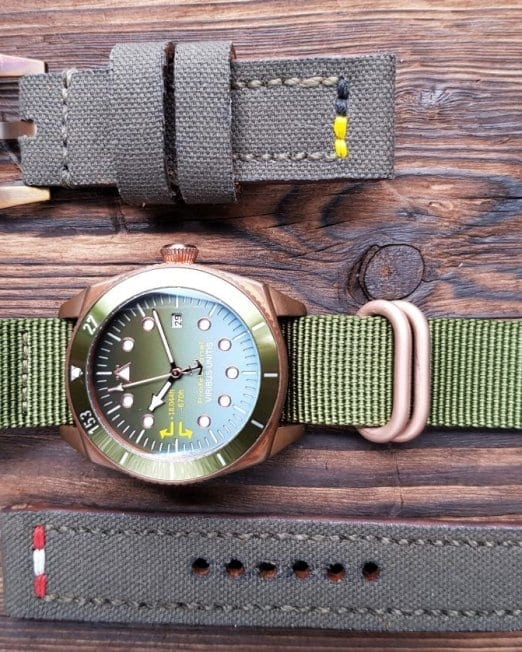 Viribusunitis Watches Uhrband CANVAS in khaki