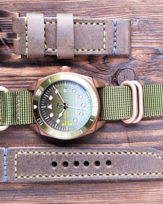 Viribusunitis Watches Uhrband LEATHER in braun