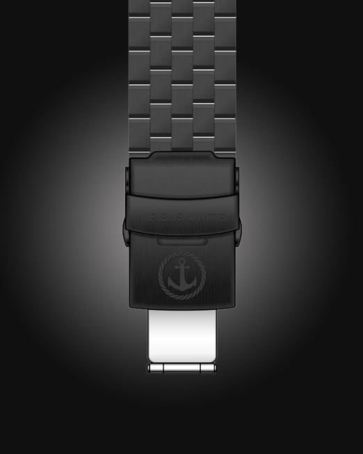 Uhrenbänder Stahl - PVD-Schwarz-schwarzerbg