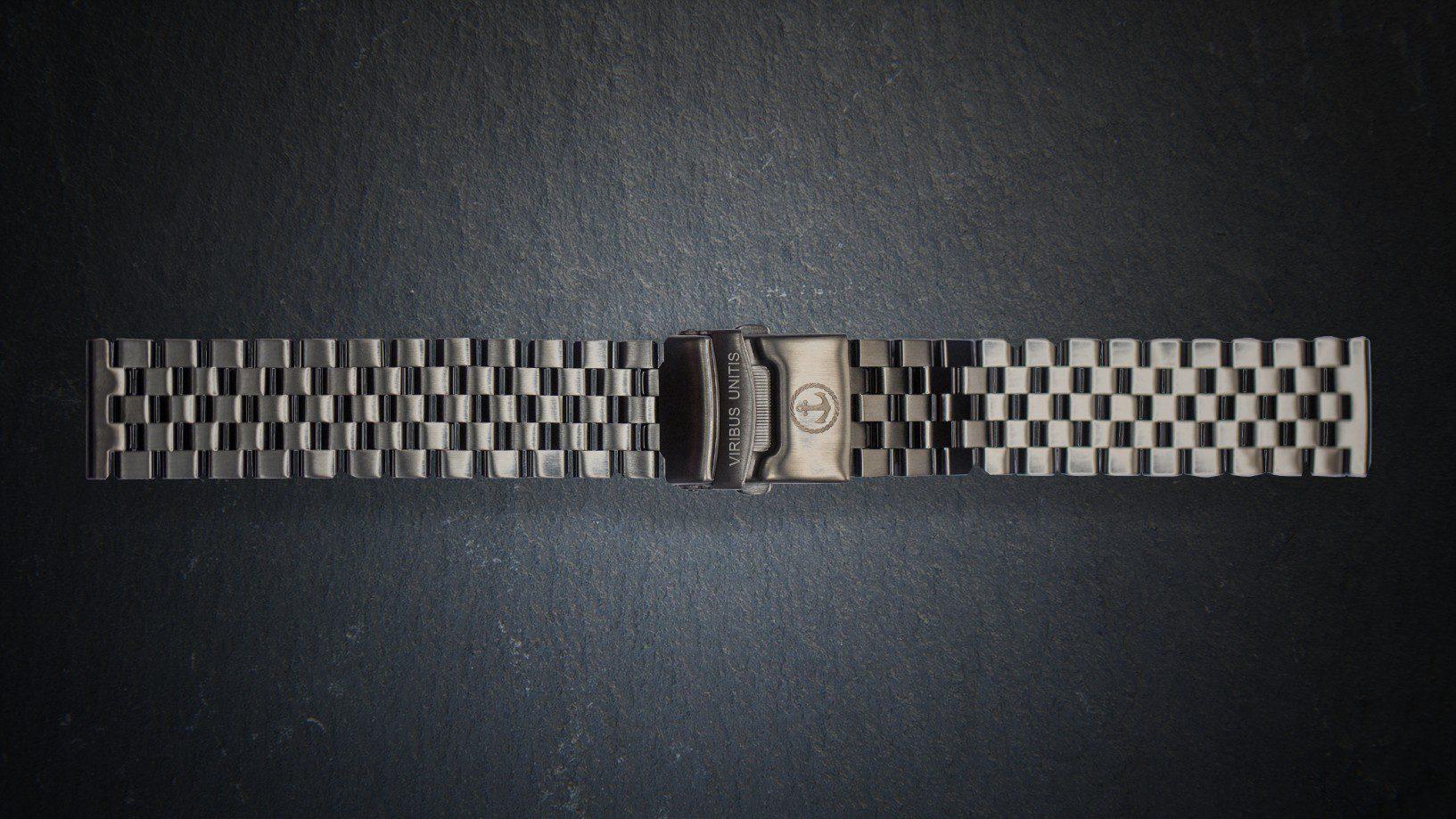 Uhrenbänder Stahl - Gunmetal